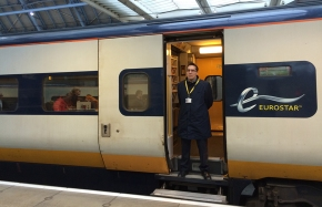 Crossing the English Channel on the Eurostar