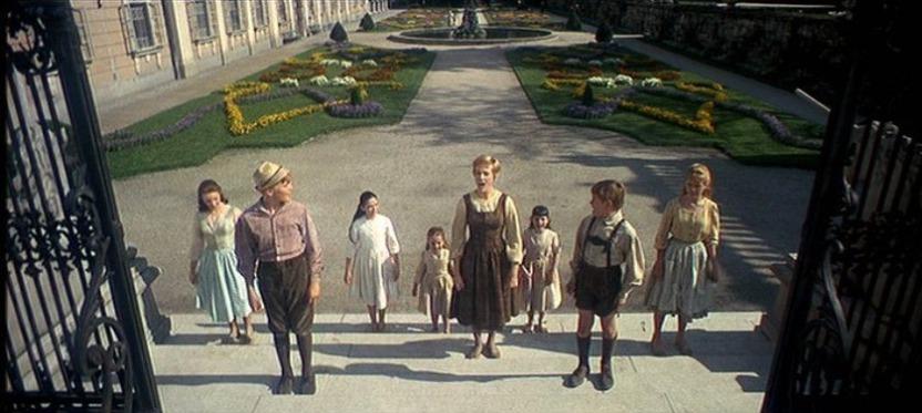 The Sound of Music: Maria and the children sing 'Do Re Mi' in the Mirabell Gardens. Image via BoardingPassTraveler.com.
