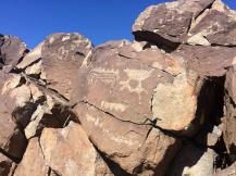 Petroglyph carvings