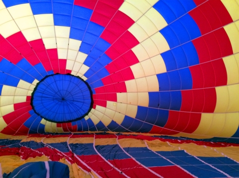 A look inside a hot air ballon