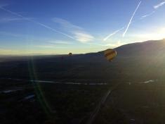 Sun rising over the Sandia Mountains