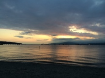 Dramatic sunset from Kitsilano Beach
