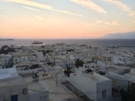 Sunset over Mykonos