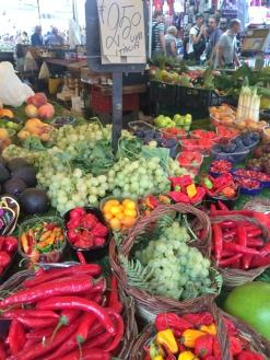 Colorful produce at Campo dei Fiori