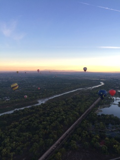 Floating over the Rio Grande Valley