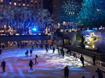 Ice skating rink at Rockefeller Center