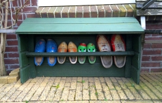 A family of well-worn clogs in Edam