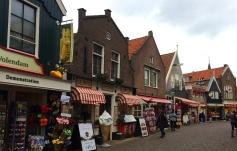 Shops along the promenade in Volendam
