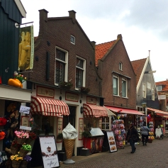 Shops along the promenade in Volendam