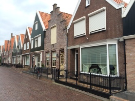 Adorable houses in the seaside town of Volendam