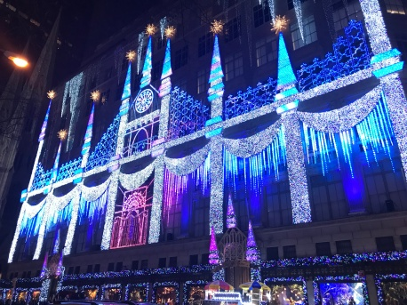 Light show at Saks Fifth Avenue