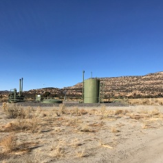 Gas well site
