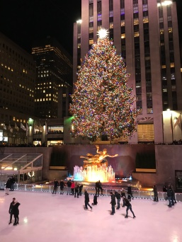 Rockefeller Center tree and skating rink