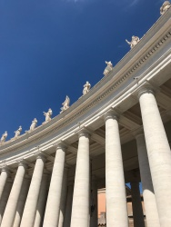 Gorgeous colonnade at the Vatican