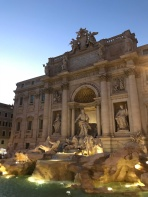 Trevi Fountain at Dusk