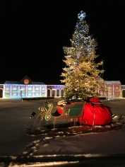 Santa's sleigh at the North Pole