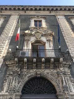 Lava stone architecture in Catania