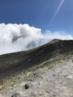 At the summit of Mount Etna