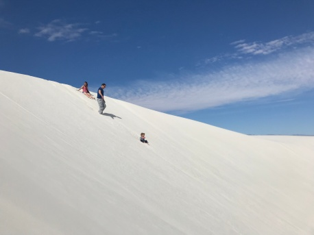 Sliding down a dune