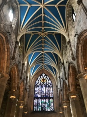 Beautiful ceiling at St. Giles Cathedral