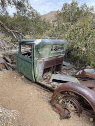 Abandoned truck near the Wall Street Mill