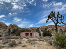 Old pink ranch house