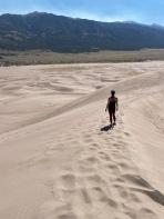Descending the dunes